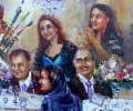 Detail of Family Portraits in a 24x36