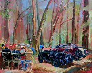 Alfa Romeo Tour - Live Painting by Nataliya Tyaglo