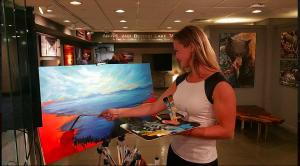 Nataliya Tyaglo at Gallery Opening